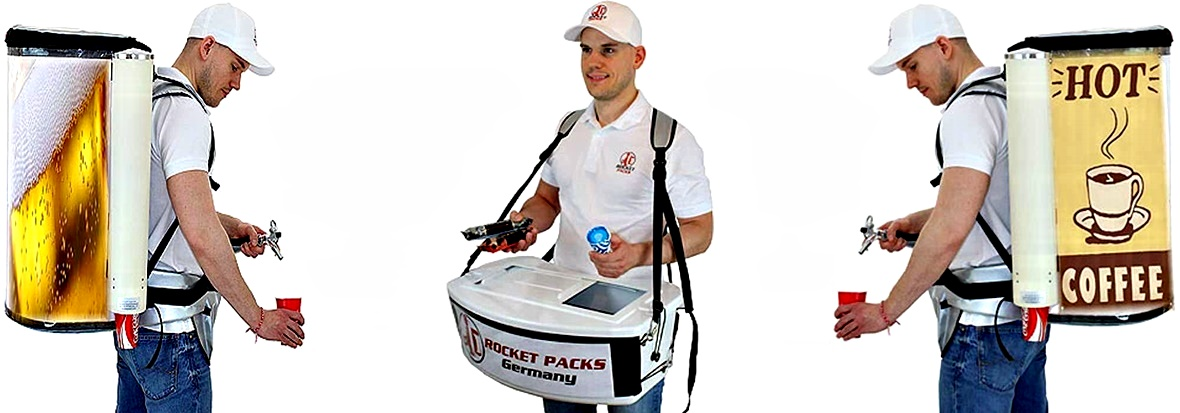 backpack drink dispenser for event and marketing